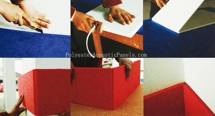 Acoustic Non Woven Fibre Panel Polyster Board Compressed Acoustic Fibre Panels