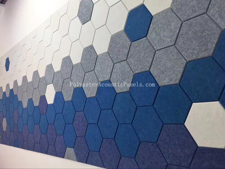 Hexagon Acoustic Panels Acousic Polyester Fiber Panel Hexagon Polyester Wall Panel