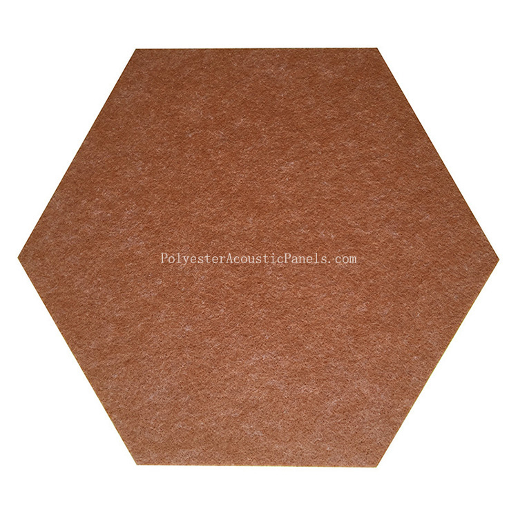 Hexagon Sound Absorbing Panels Polyester PET Acoustic Panel Hexagon Acoustic Wall Tiles
