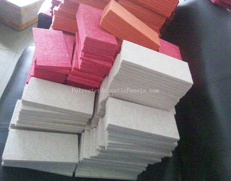 Polyester Acoustic Wall Panels Colors Eco-Friendly Polyester Fiber Acoustic Wall Panel