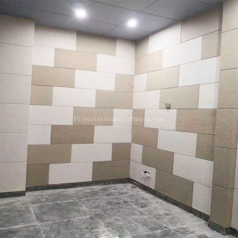 white acoustic panels